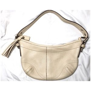 COACH Leather Mini Hobo Shoulder Bag #M05S-3225